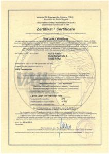 Zertifikat VAH